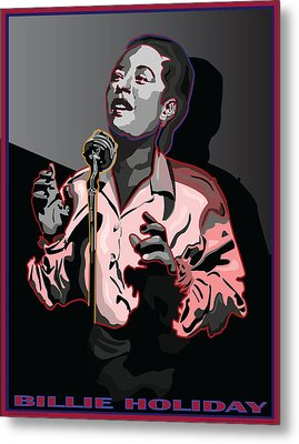 Billie Holiday Jazz Singer Metal Print by Larry Butterworth