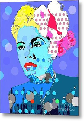 Billie Holiday Metal Print by Ricky Sencion