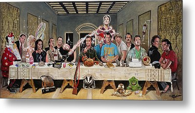 Bills Last Supper Metal Print by Tom Carlton