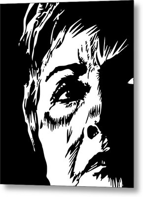 Bill's Old Lady Metal Print by Phil Wooley
