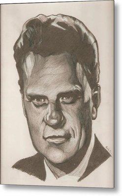 Billy Graham Drawing Metal Print by Robert Crandall