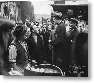 Billy Graham Jr. On A Boston Street 1950 Metal Print by The Harrington Collection