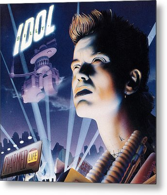 Billy Idol - Charmed Life 1990 Metal Print by Epic Rights