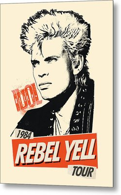 Billy Idol - Rebel Yell Tour 1984 Metal Print by Epic Rights