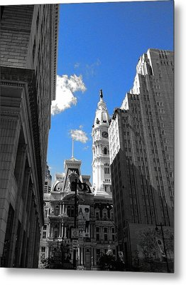 Billy Penn Blue Metal Print by Photographic Arts And Design Studio