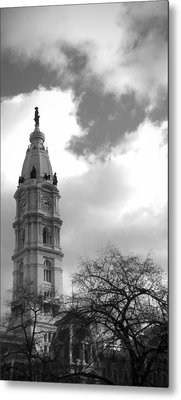 Billy Penn Vertical Bw Metal Print by Photographic Arts And Design Studio