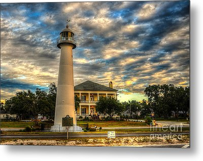 Biloxi Lighthouse And Welcome Center Metal Print by Maddalena McDonald