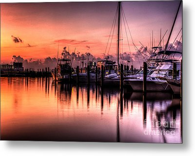 Biloxi Mississippi Harbor Metal Print
