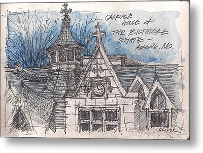 Biltmore Carriage House Metal Print by Tim Oliver