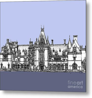 Biltmore Estate In Blues Metal Print