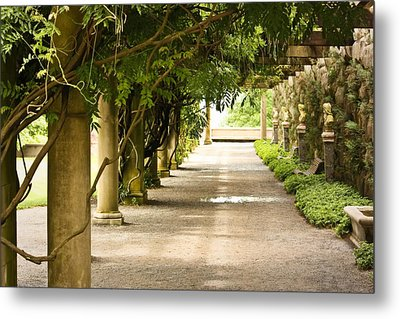 Metal Print featuring the photograph Biltmore Pergola by Tammy Schneider