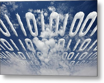 Electronic Information Data Transfer Metal Print by Johan Swanepoel