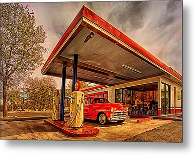 Bings Burger Station In Historic Old Town Cottonwood Arizona Metal Print by Priscilla Burgers