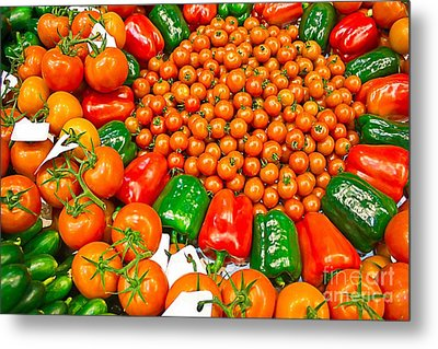Bio Vegetables Metal Print by Dragomir Nikolov