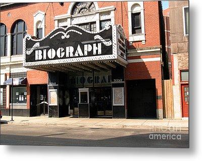 Biograph Theatre John Dillinger's Last Night Out Metal Print by Linda Matlow