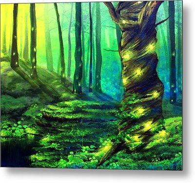 Bioluminescence Metal Print by Erin Scott