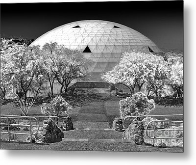 Biosphere2 - Dome Panorama Metal Print by Gregory Dyer