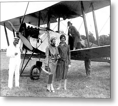 Biplane Passenger Service Metal Print by Underwood Archives
