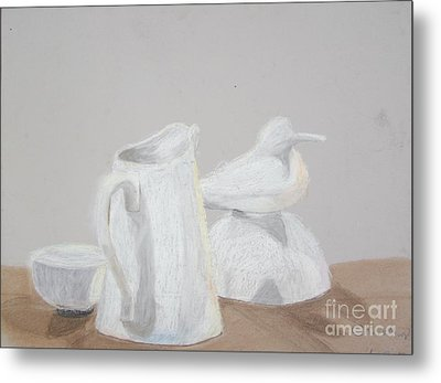 Bird And Pitcher Metal Print by Christopher Murphy