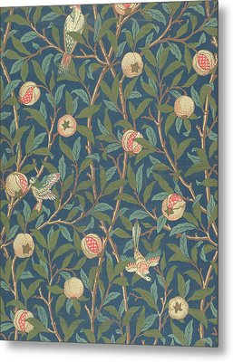 Bird And Pomegranate Metal Print by William Morris
