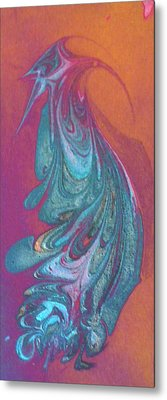 Metal Print featuring the painting Bird Dance by Mike Breau