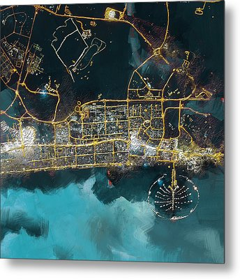 Bird Eye View - Dubai Metal Print by Corporate Art Task Force