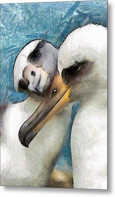 Metal Print featuring the painting Bird Love by Georgi Dimitrov