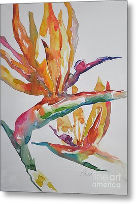 Metal Print featuring the painting Bird Of Paradise #2 by Roger Parent