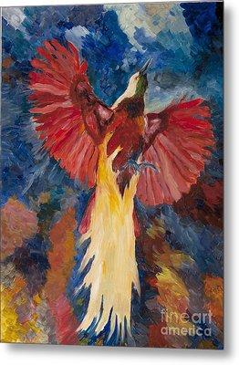 Bird Of Paradise Resurrection Metal Print by Peter Urban