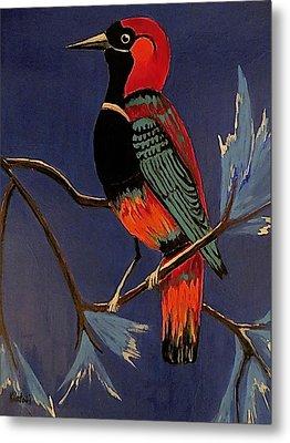 Bird On A Branch Metal Print by Kathleen Sartoris