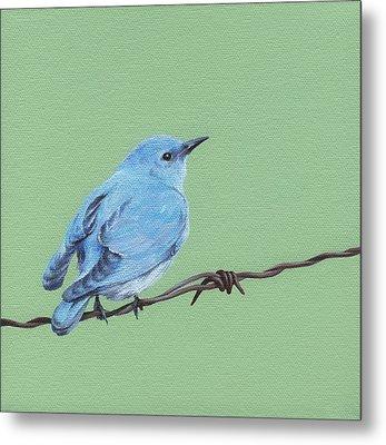 Bird On A Wire Metal Print by Natasha Denger