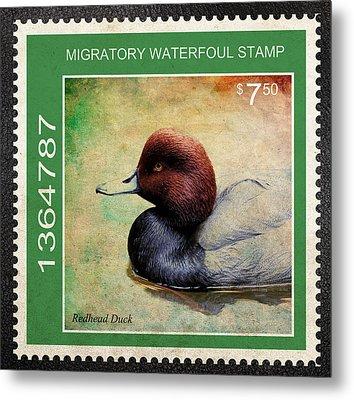 Bird Stamp Metal Print by Steve McKinzie