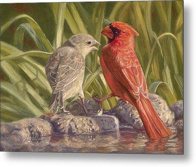 Bird Talk Metal Print