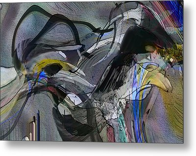 Metal Print featuring the digital art Bird That Wept With Me by Richard Thomas