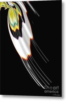 Bird Wing Fractal Metal Print