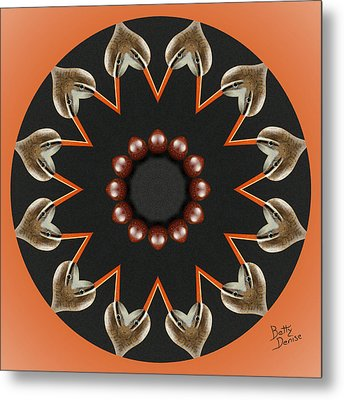 Metal Print featuring the photograph Bird With Egg Kaleidoscope by Betty Denise