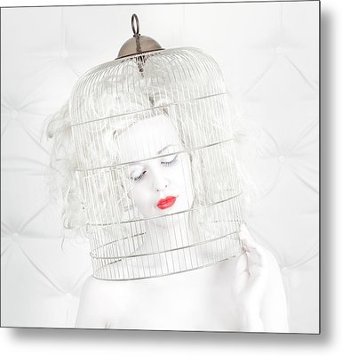 Birdcage Love Metal Print by John Andre Aasen