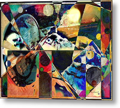 Birds And Music Metal Print