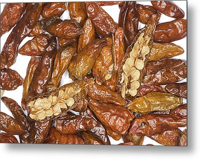 Bird's Eye Chilli Peppers Metal Print by Power And Syred