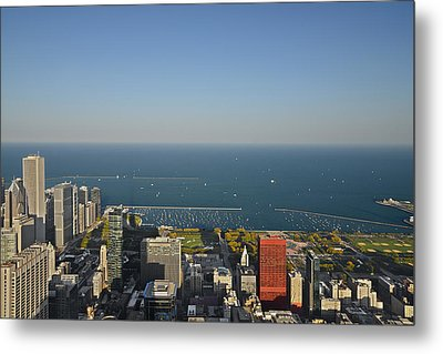 Bird's Eye View Of Chicago's Lakefront Metal Print by Christine Till