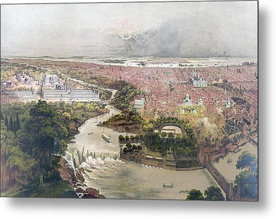 Birds Eye View Of Philadelphia & Centennial Grounds By John Metal Print by Litz Collection