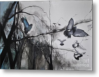Birds Metal Print by Maja Sokolowska