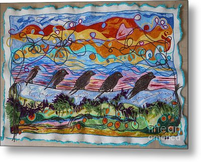 Birds Of A Feather 1 Metal Print by Heather Hennick