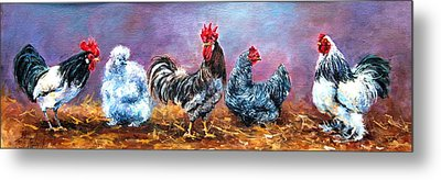 Birds Of A Feather Metal Print by Jacinta Crowley-Long