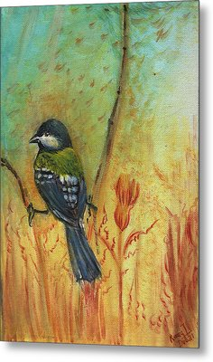 Birds Of A Feather Series3 In Autumn Metal Print