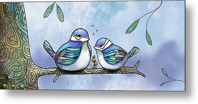 Birds Of Blue Metal Print by Karin Taylor