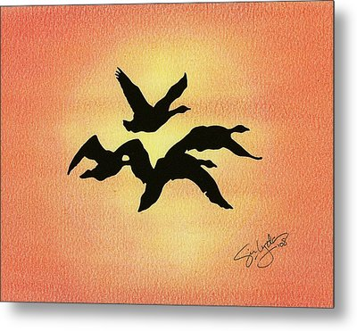 Birds Of Flight Metal Print by Troy Levesque