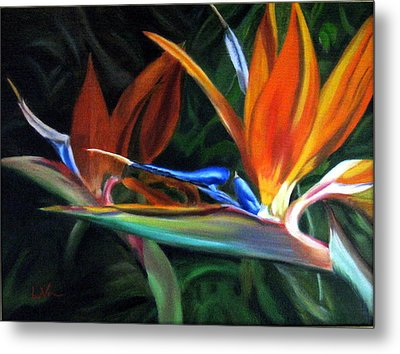 Birds Of Paradise Metal Print by LaVonne Hand