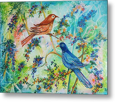 Birds Of Spring Metal Print