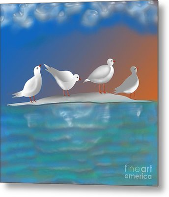Birds Of Summer Breeze Metal Print by Latha Gokuldas Panicker
